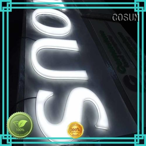 COSUN full outdoor acrylic signs sign club