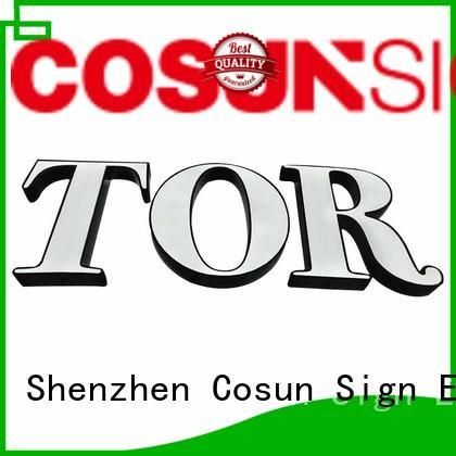 acrylic led signage 25mm restaurant COSUN