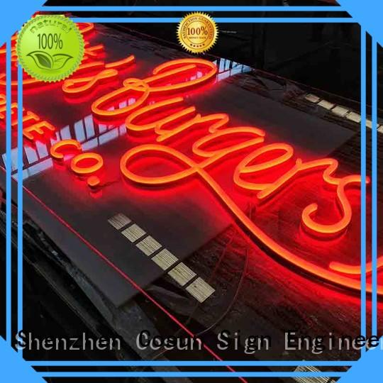neon sign light eye-catching for restaurant COSUN