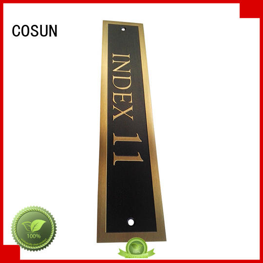 COSUN polishing signs for an office Suppliers house decoration
