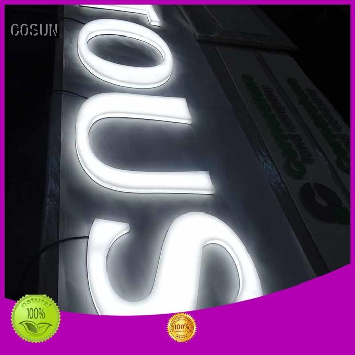 COSUN Best custom acrylic signs online company for shop