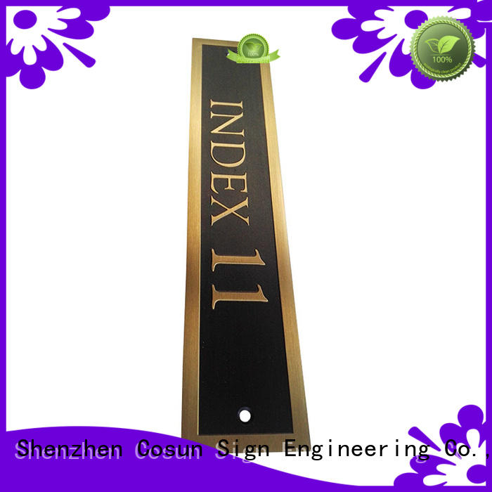 cnc aluminum door signs for wholesale for bar COSUN