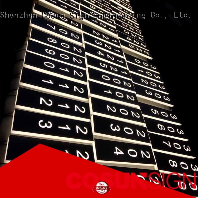 COSUN etched business office signs Suppliers for door