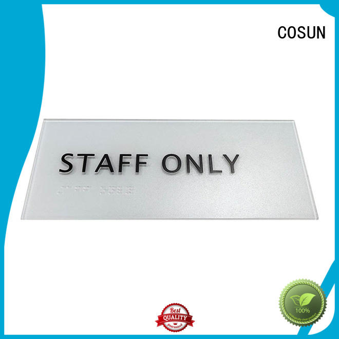 plaque brass door sign for wholesale for bar COSUN