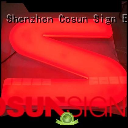 laser cut acrylic sign free sample for pub club COSUN