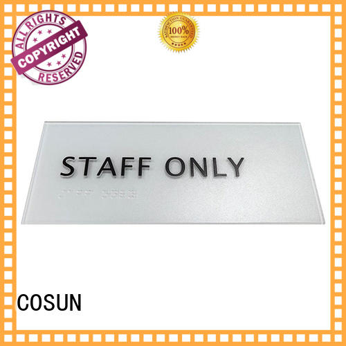 logo custom custom led signs indoor safety sign for warning COSUN