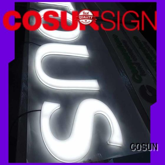 acrylic sign letters for pub club COSUN