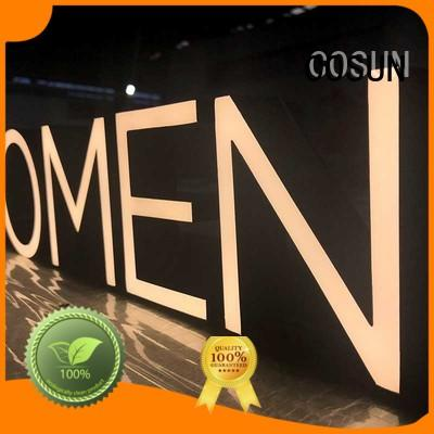 COSUN led resin house signs factory for decoration