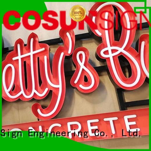 direct manufacturer neon letter sign wholesale for decoration COSUN