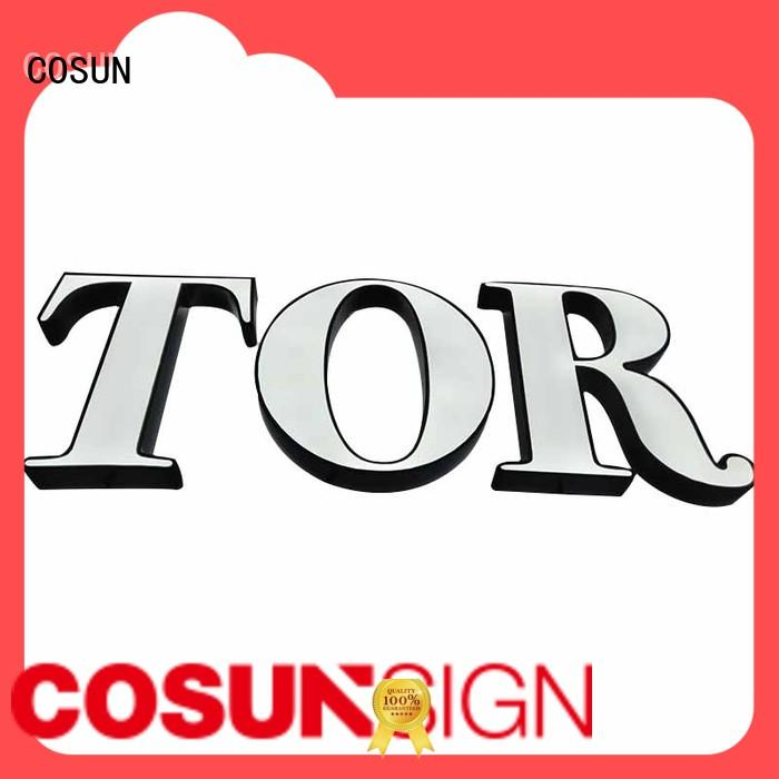 COSUN clear letter small display sign holders for restaurant