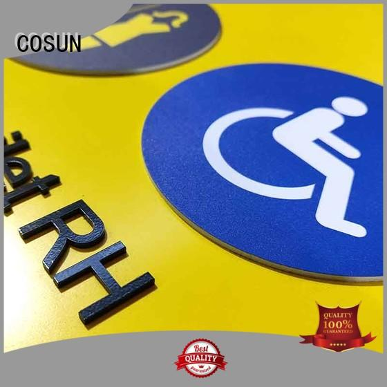 COSUN customized logo classroom door sign painted for decoration