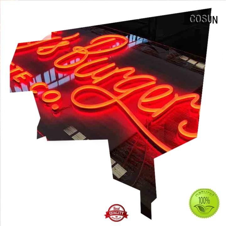 at discount neon light sign custom ODM for warning COSUN