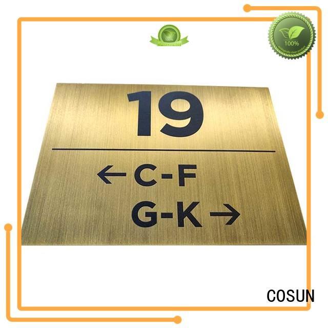 Best wooden door number plaque etched Supply for hotel
