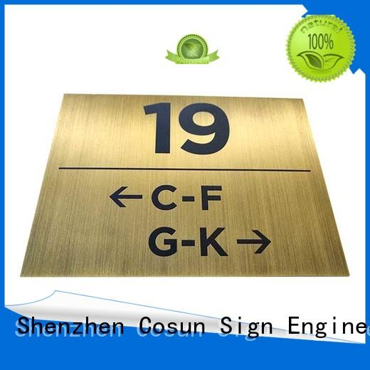 painted office door signs safety sign house decoration COSUN