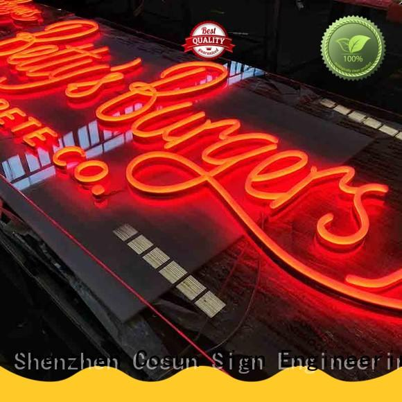 COSUN New custom led signs Supply for decoration