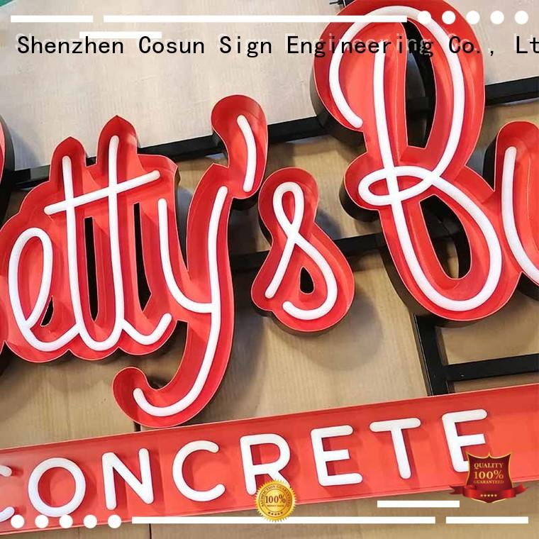 COSUN best factory price custom made neon signs eye-catching for hotel