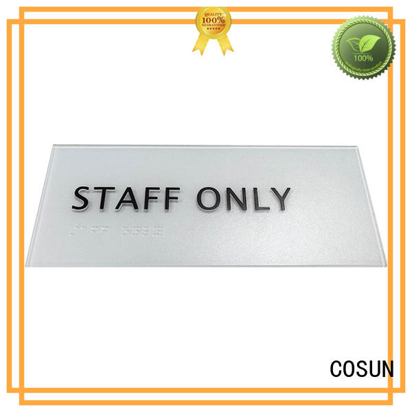 COSUN factory price hotel room number for wholesale for warning