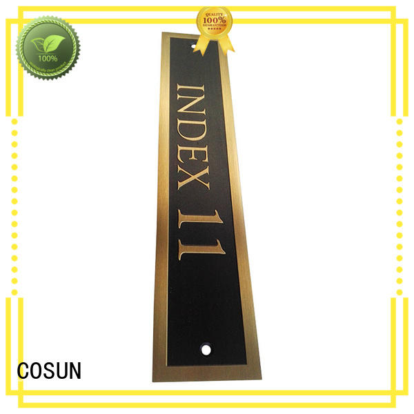 all size bicolor sign laser cutting for hotel COSUN