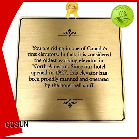 COSUN New front door name plaque for business for hotel