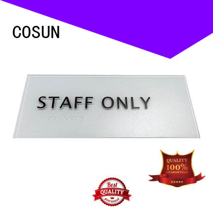 COSUN etched exterior door numbering signs Suppliers for decoration