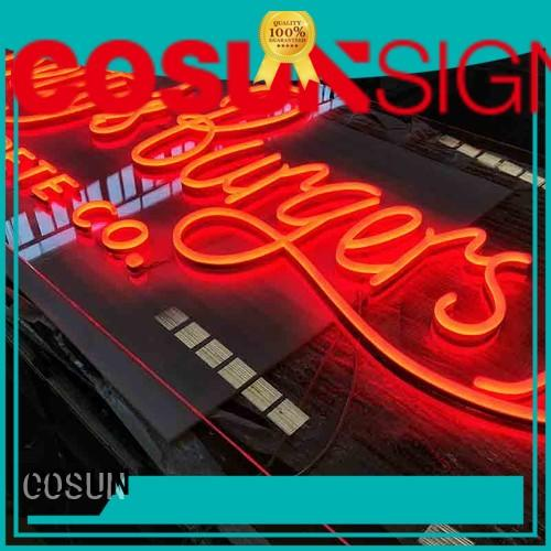 COSUN Custom interior neon signs manufacturers for house