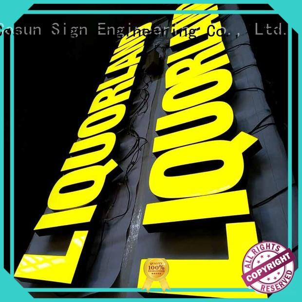 Latest resin house signs yellow for business for promotion