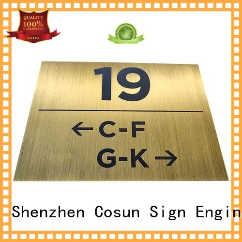 COSUN painted door sign printing manufacturers for toilet signage