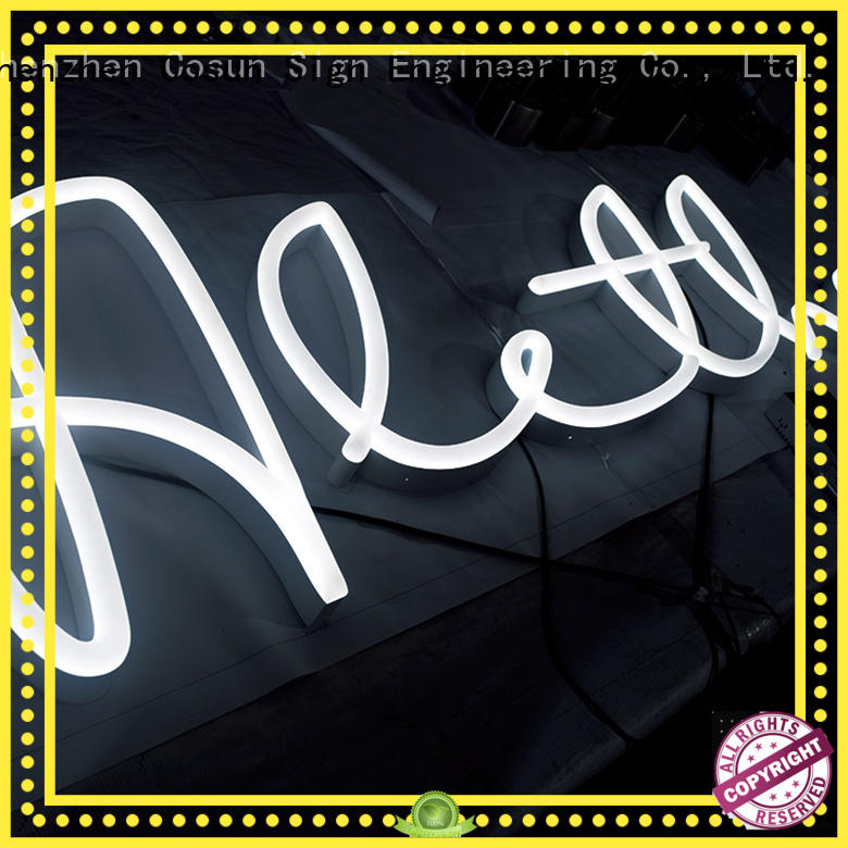 on-sale home neon sign eye-catching for hotel COSUN