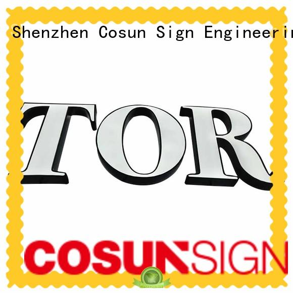 COSUN competitive price custom acrylic led signs inquire now