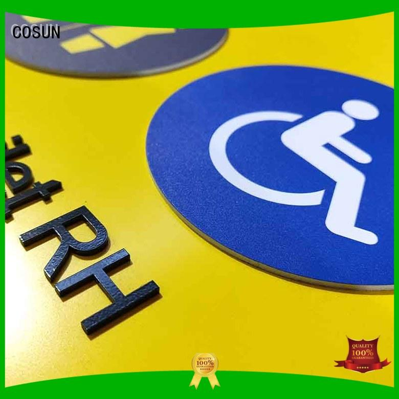 COSUN Latest wooden door signs factory for wholesale