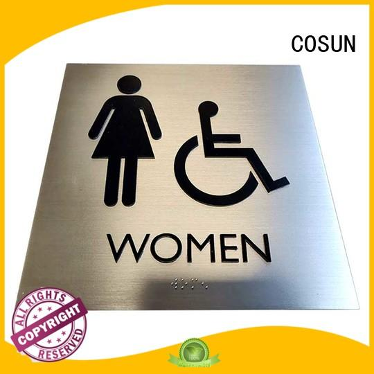 COSUN New door labels and signs for business for bar