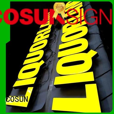 COSUN pink custom made signs hot-sale for promoting