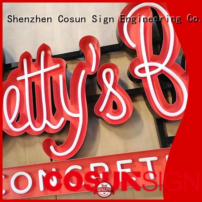 COSUN Wholesale bespoke neon signs Suppliers for restaurant