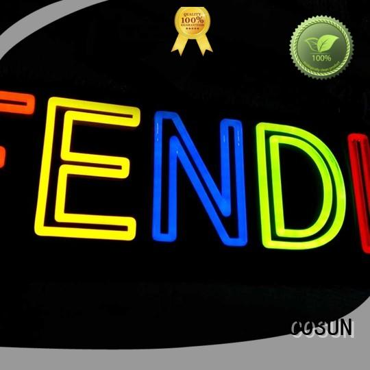 popular neon light custom sign hot-sale for promoting COSUN
