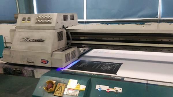 UV printing process of Evacuation door sign