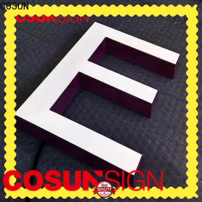 COSUN plastic retail sign stand easy installation for pub club
