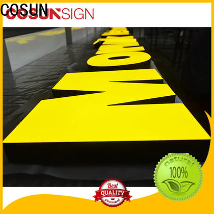 COSUN Best acrylic engraved signs for restaurant