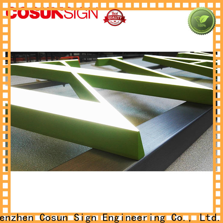 New acrylic sign board cost plastic wholesale for shop