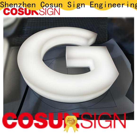 COSUN clear letter price display holders for restaurant