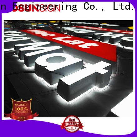 COSUN clear letter illuminated plexiglass sign for business for restaurant