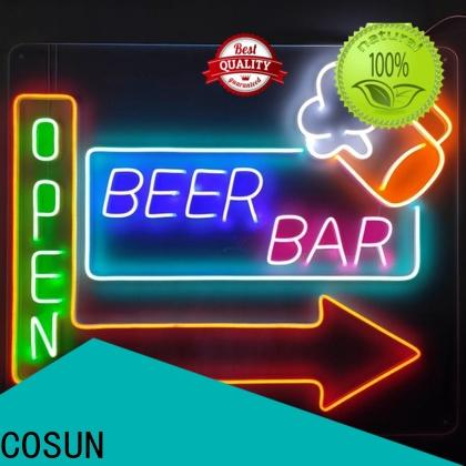 COSUN Custom outdoor neon lights company for promotion