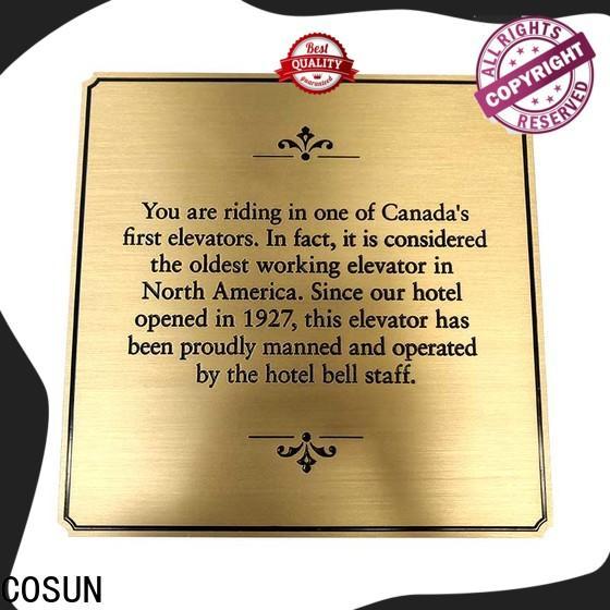 COSUN Top metal door plaques for business for door