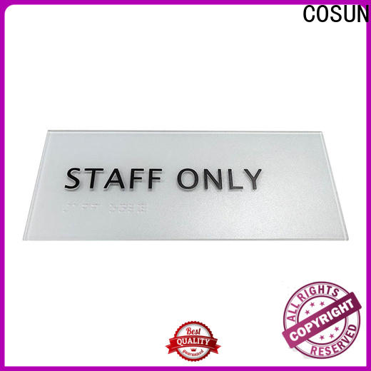 Latest outdoor door signs etched manufacturers for shop