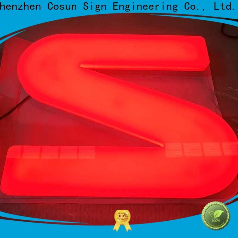 Latest pvc signs led base factory for restaurant