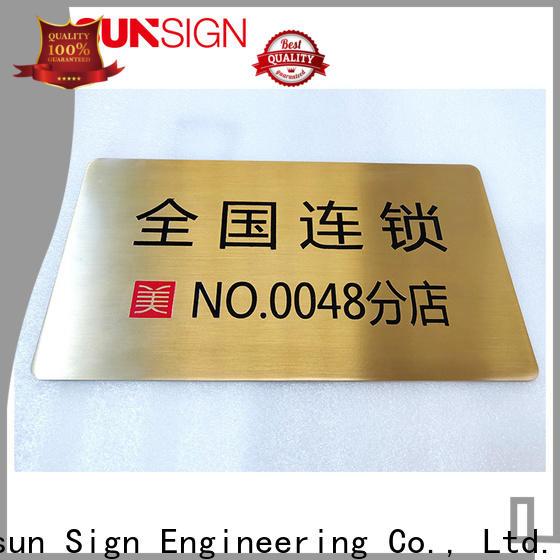 COSUN painted adhesive signs for doors Suppliers for bar