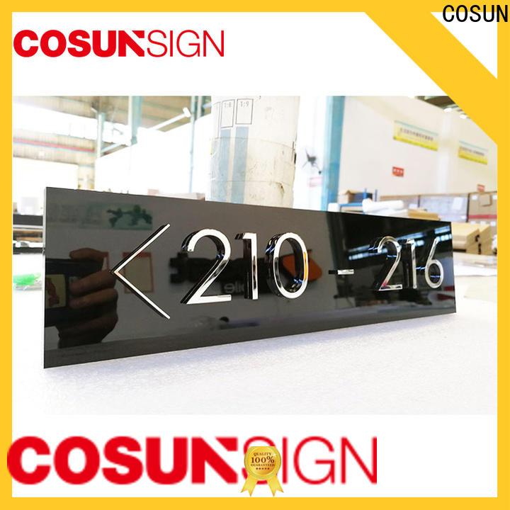 COSUN painted outdoor door signs Suppliers for door
