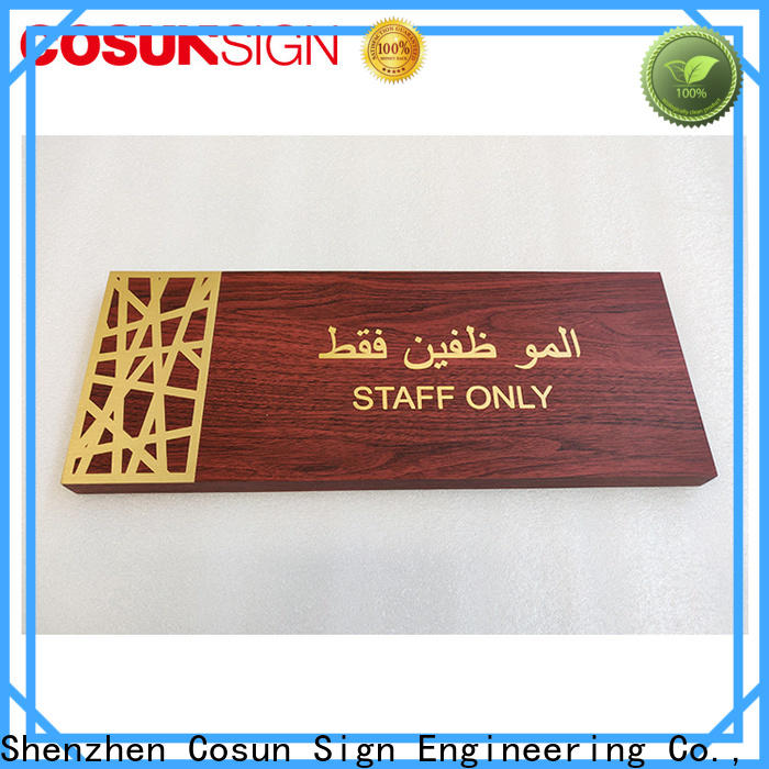 COSUN painted outdoor salon signs manufacturers for hotel