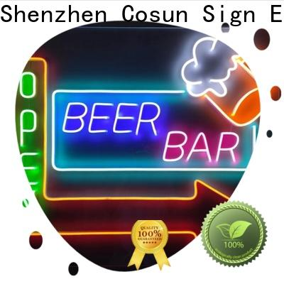 COSUN hot-sale black neon sign for business for hotel