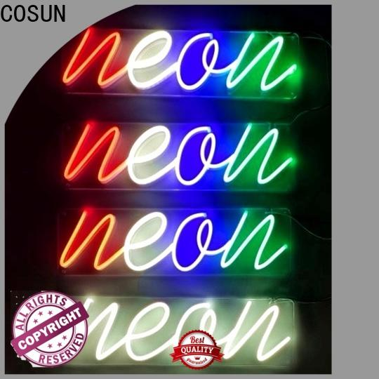 COSUN on-sale neon sign kit for business for promoting