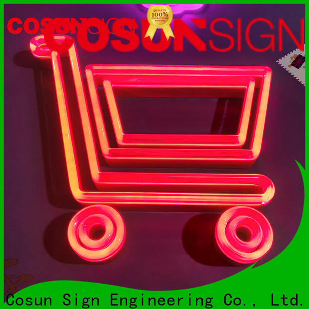 COSUN popular yellow neon sign manufacturers for house